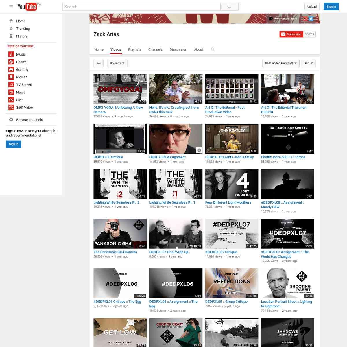 Zack Arias - YouTube
