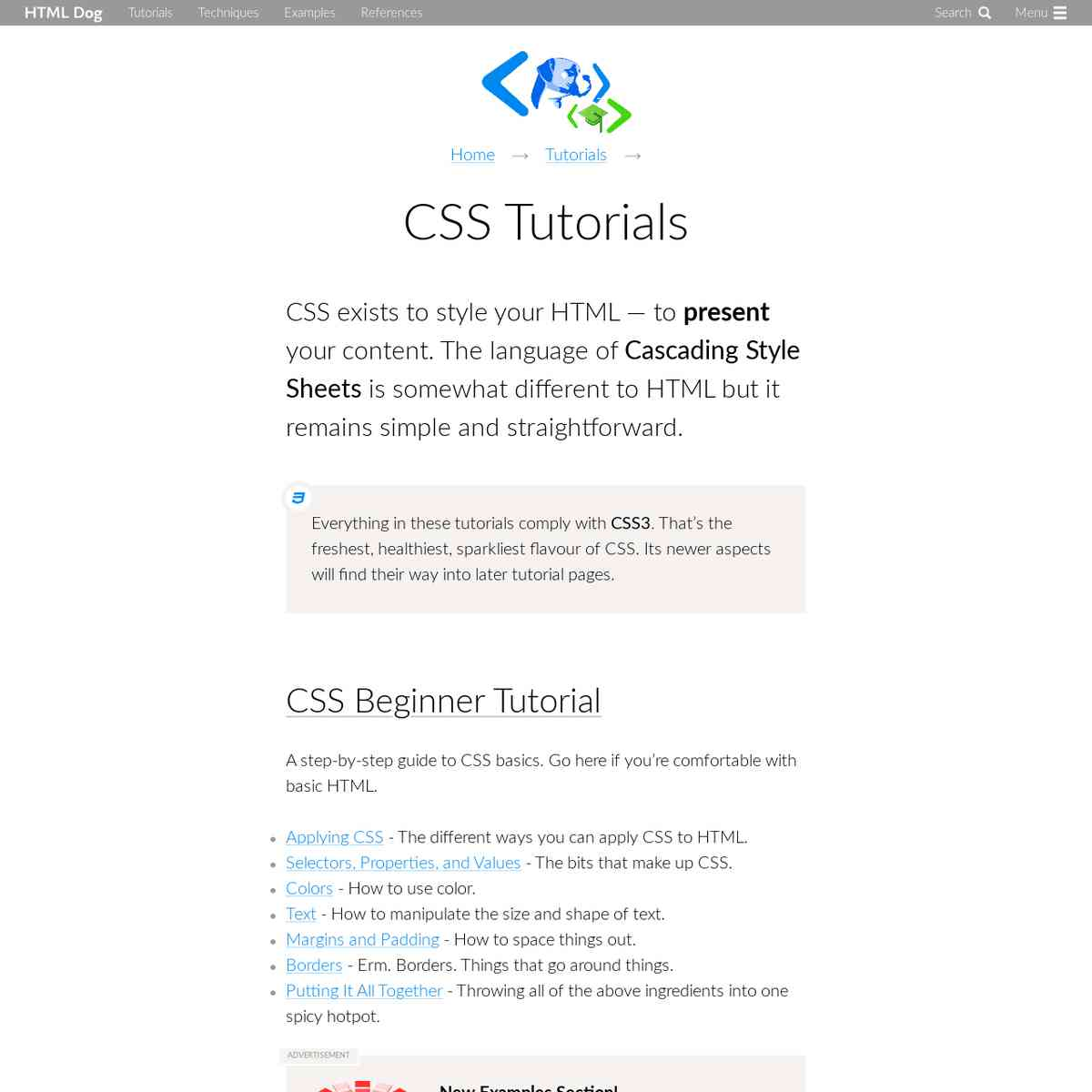 CSS Tutorials | HTML Dog