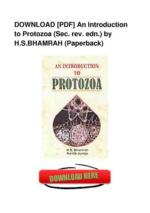 PDF-An-Introduction-To-Protozoa-Sec -Rev -Edn --PDF-CR676123