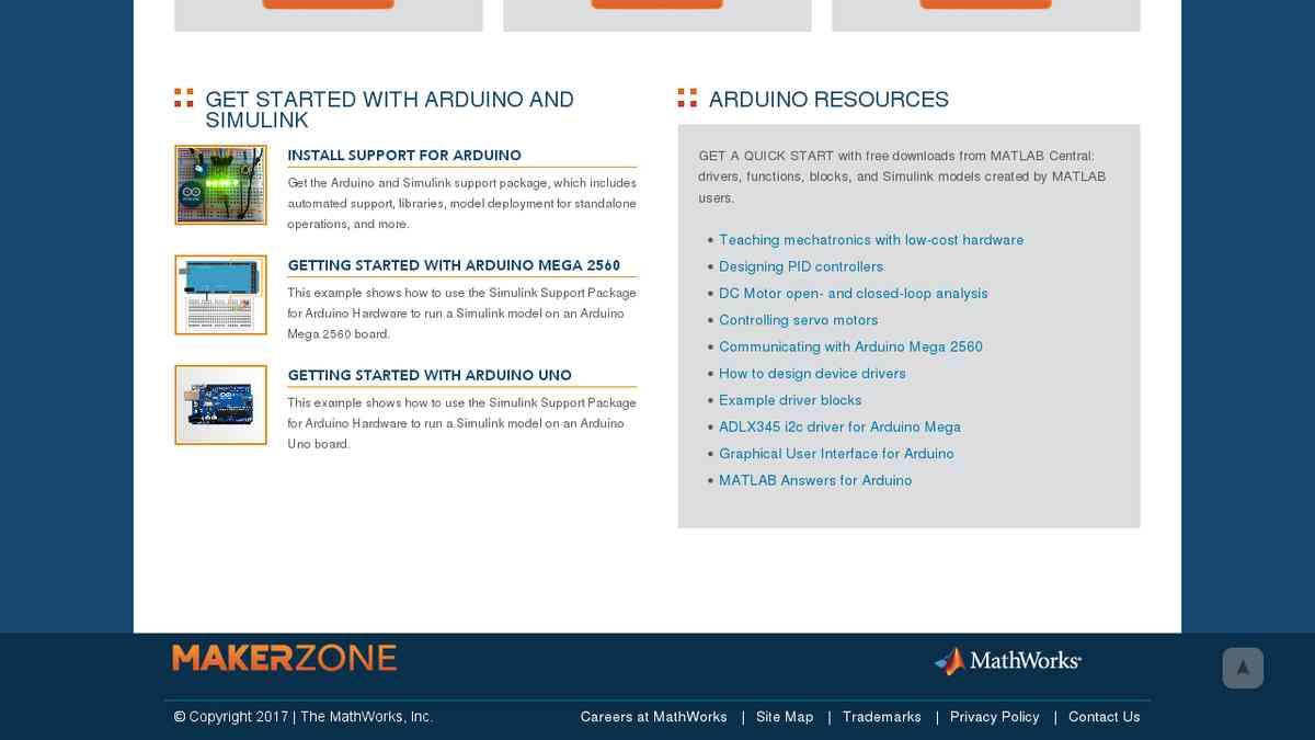 makerzone.mathworks.com/arduino/#start - Arduino
