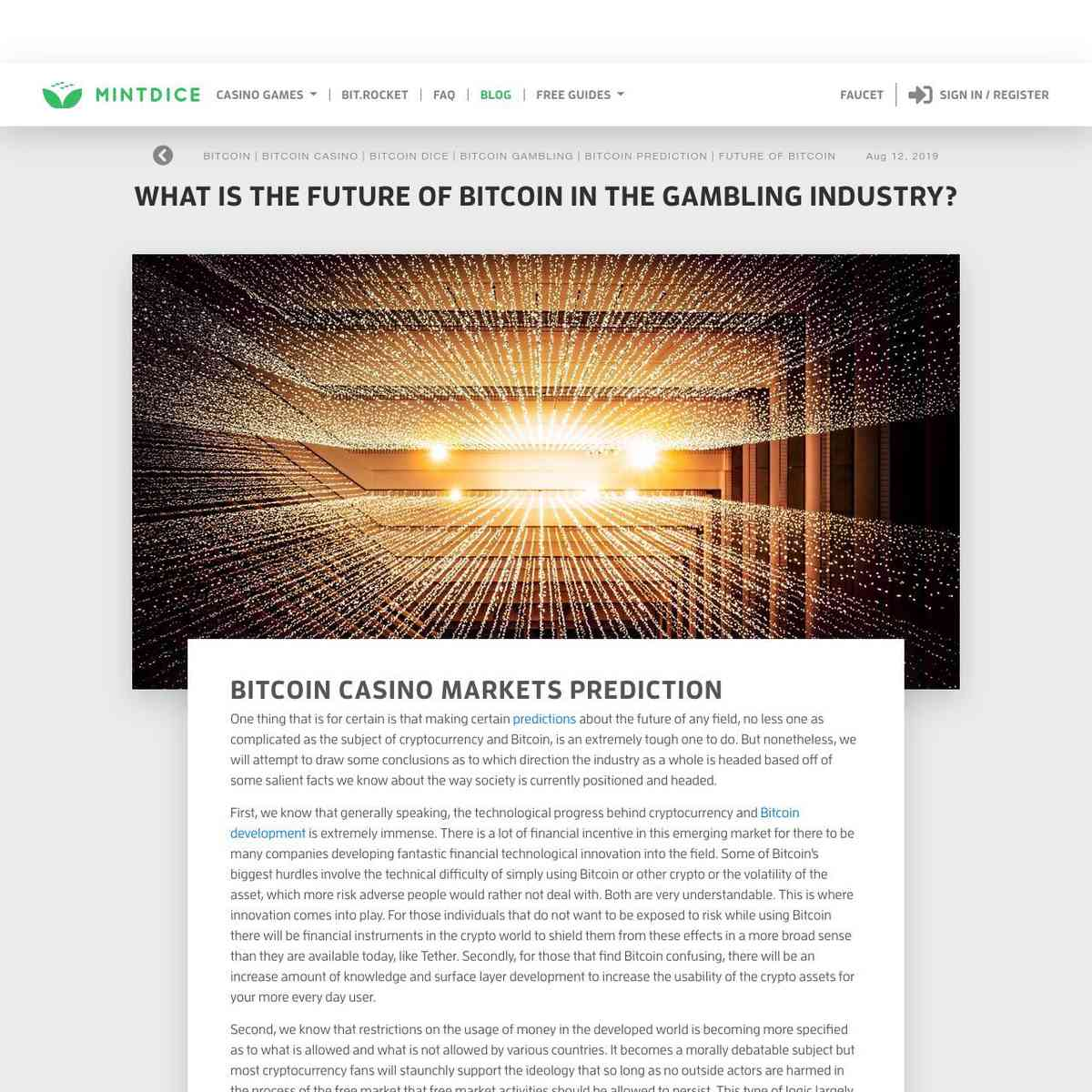What Is The Future of Bitcoin In The Gambling Industry?