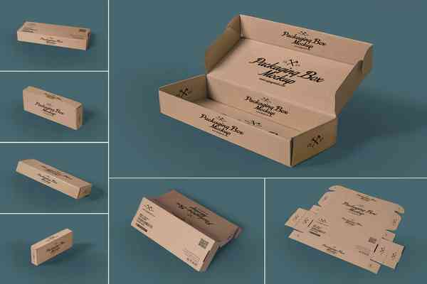 $ Rectangular Packaging Box Mockups