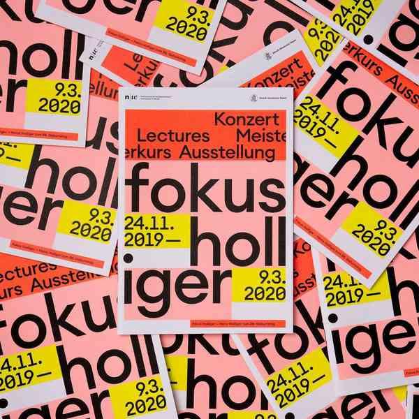 """Program Brochure """"Fokus Holliger"""" for Sonic Space Basel"""