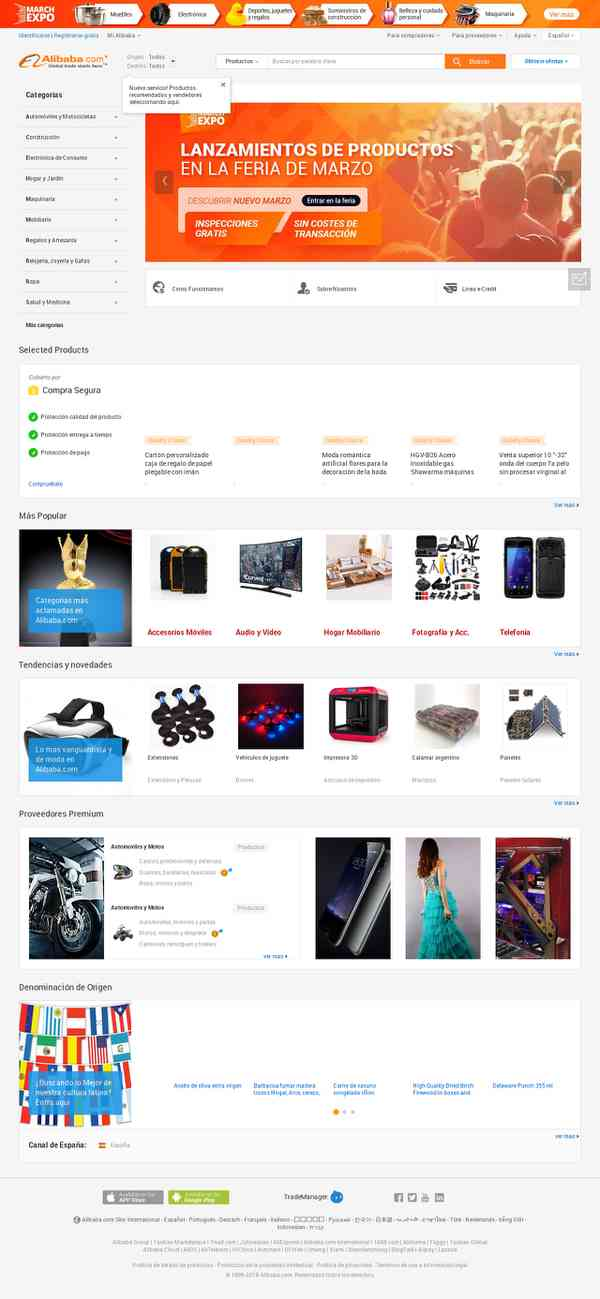 Alibaba.com en Español: Directorio de Proveedores y Fabricantes Internacionales en Español