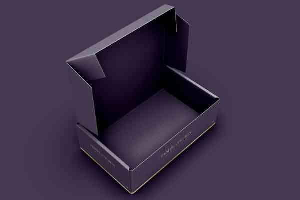 $ Rectangular Cardboard Box Mockup