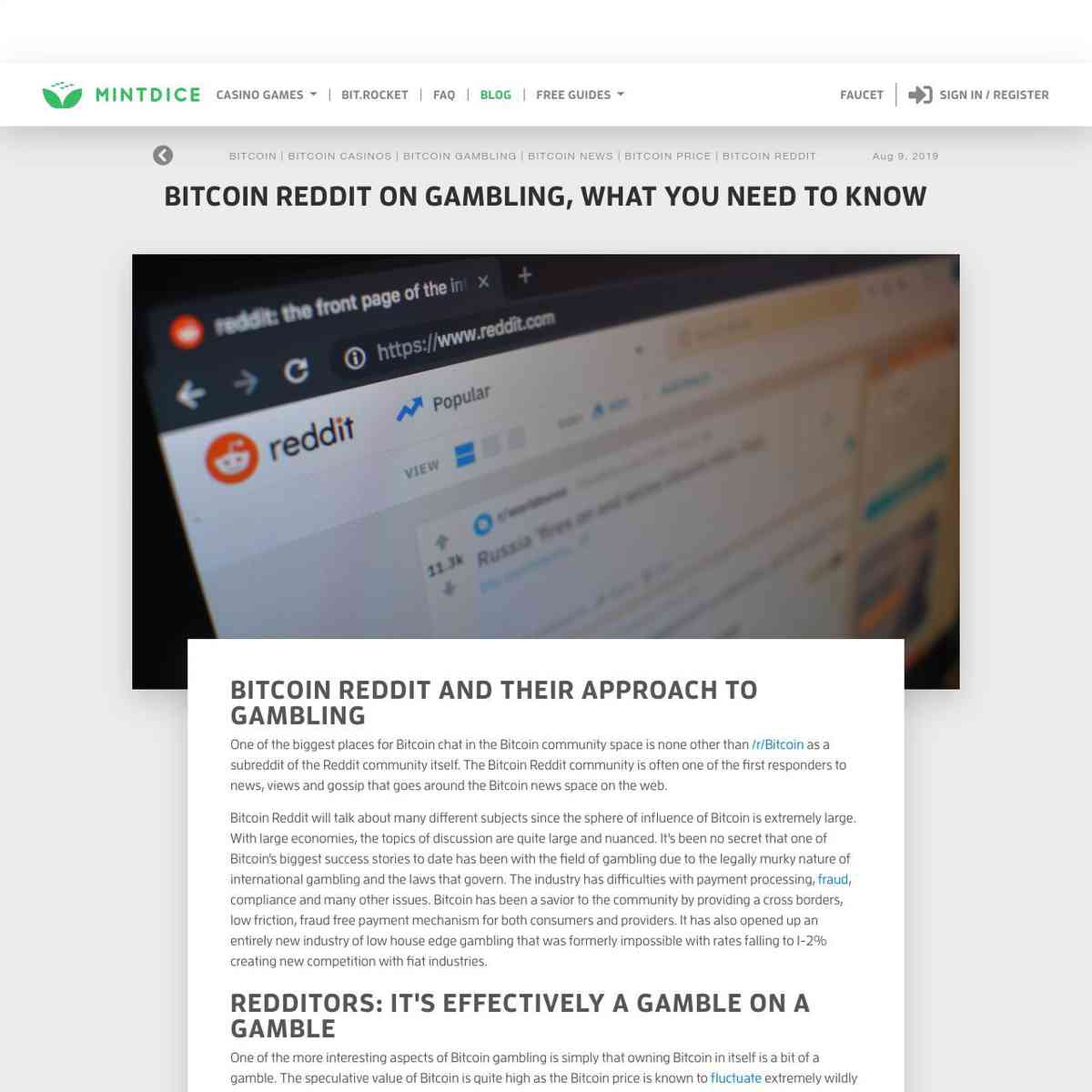 Bitcoin Reddit on Gambling, What You Need To Know