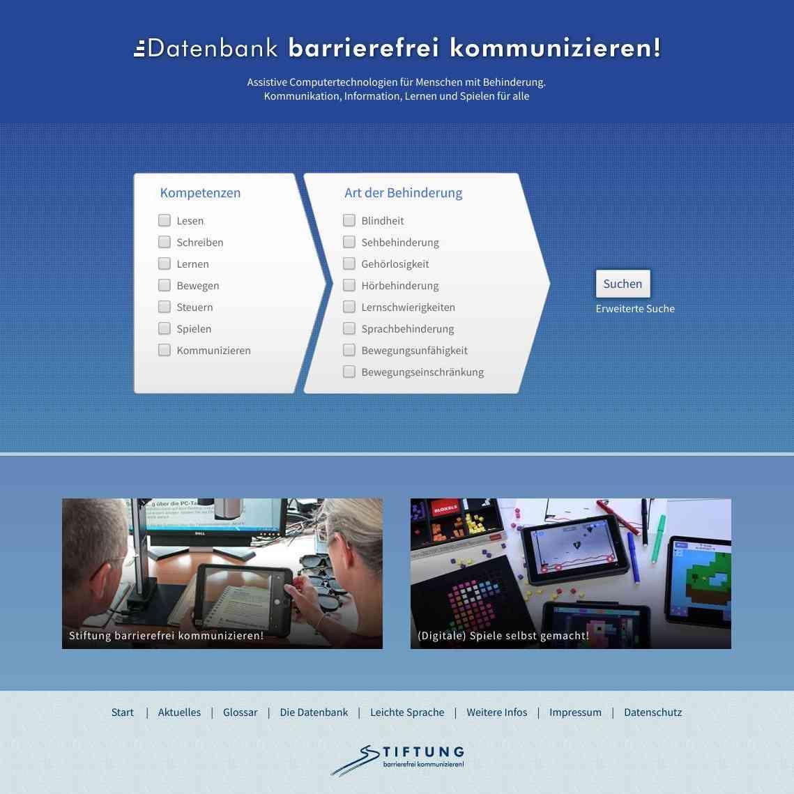 Datenbank barrierefrei kommunizieren!