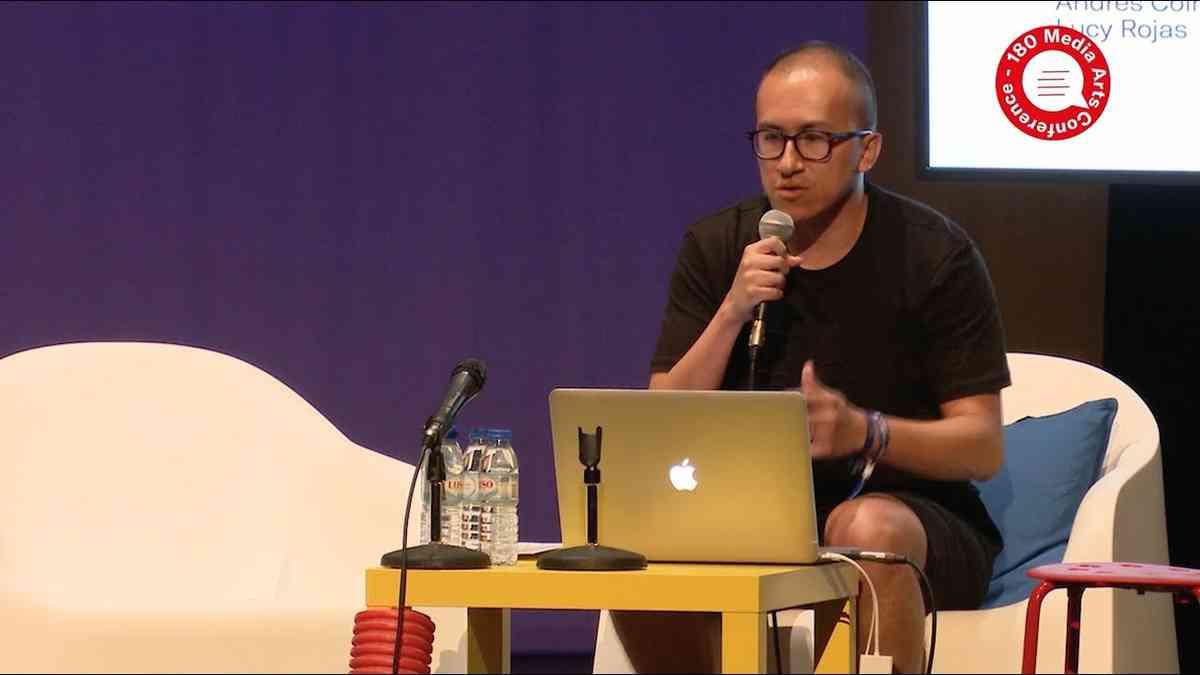 Andrés Colmenares (Internet Age Media) at 180 Media Arts Conference