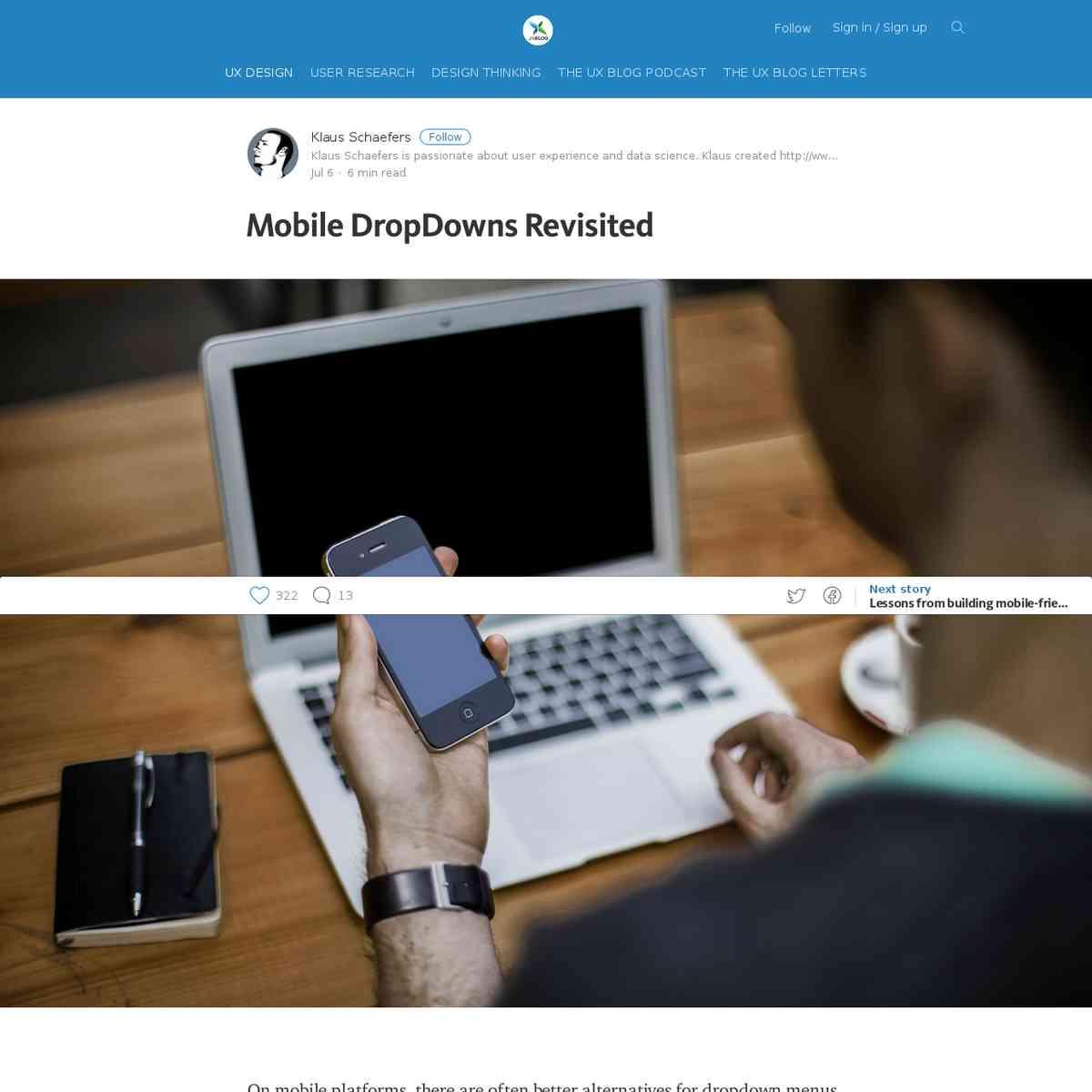 Mobile DropDowns Revisited – theuxblog.com
