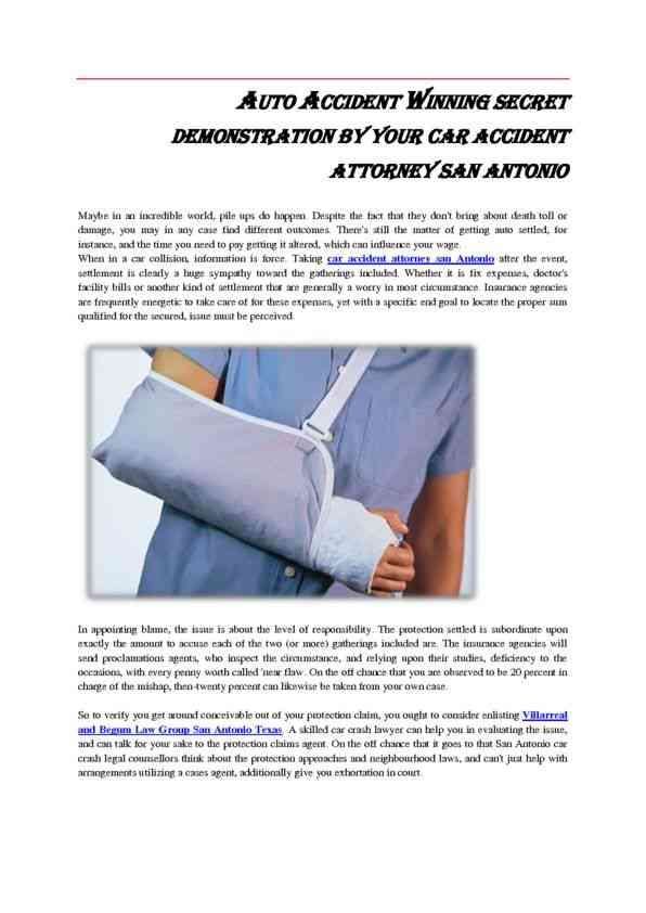 Car Accident Attorney San Antonios Winning Secret