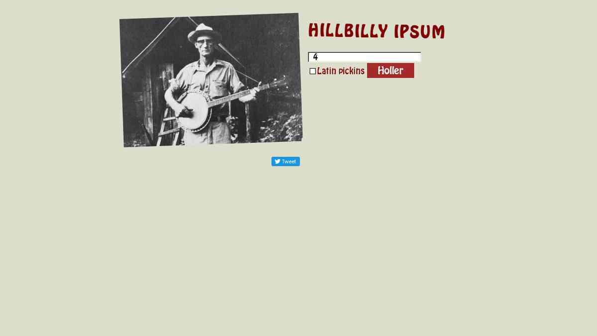 Hillbilly Ipsum