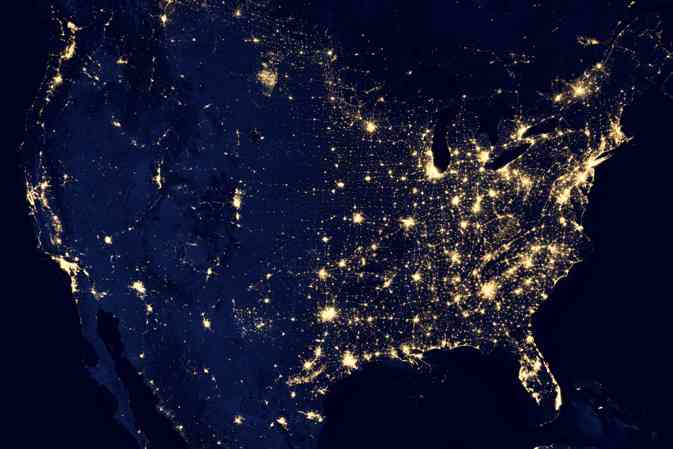 Nighttime Illumination - Continental United States