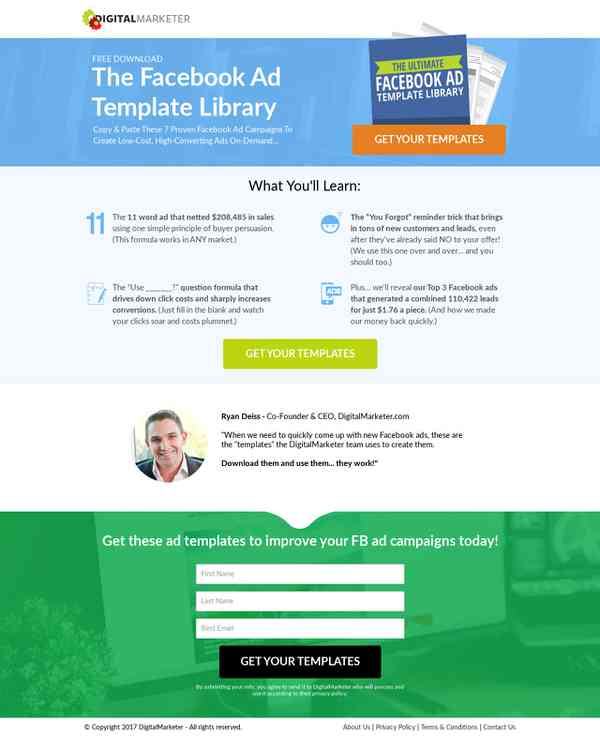 Digitalmarketercomlpfbadtemplatesb Mkt Publishing KaraOkulta - Digital marketer facebook ad template