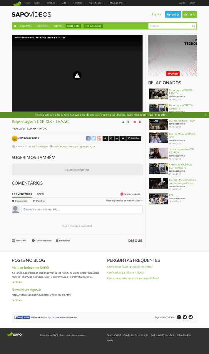 Reportagem CCP XIX | TVAAC