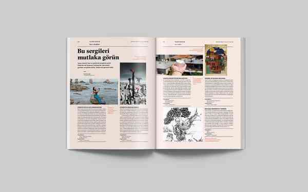 Milliyet Sanat Magazine | Page spread
