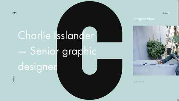 Charlie Isslander - Senior graphic designer from Prague