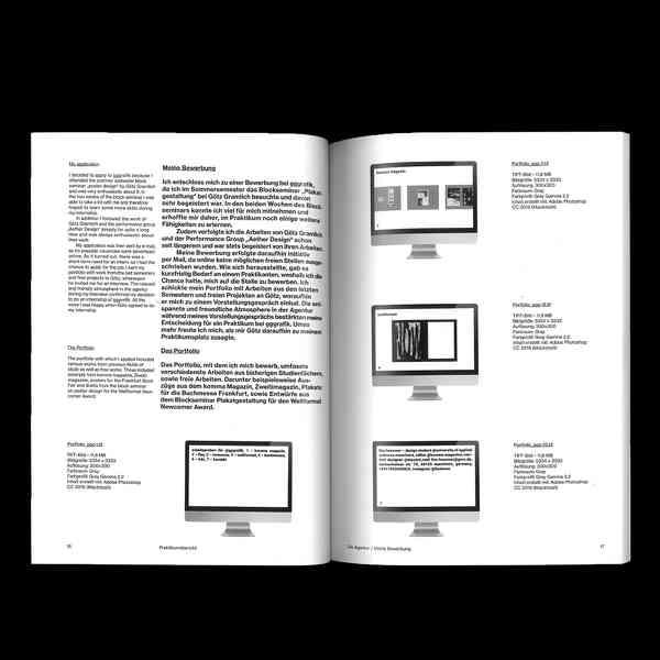 Internship Report / Praktikumsbericht