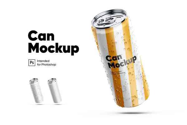 $ Can Mockup