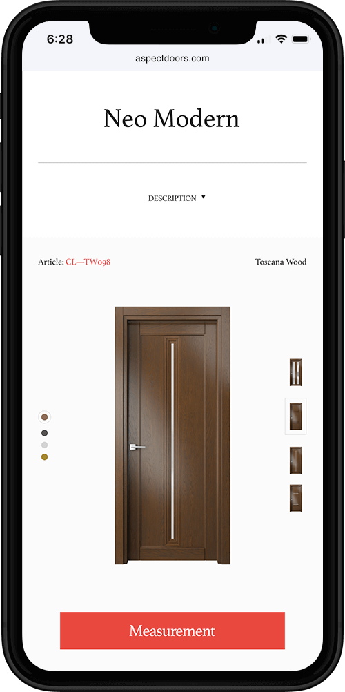 Aspect | Product page