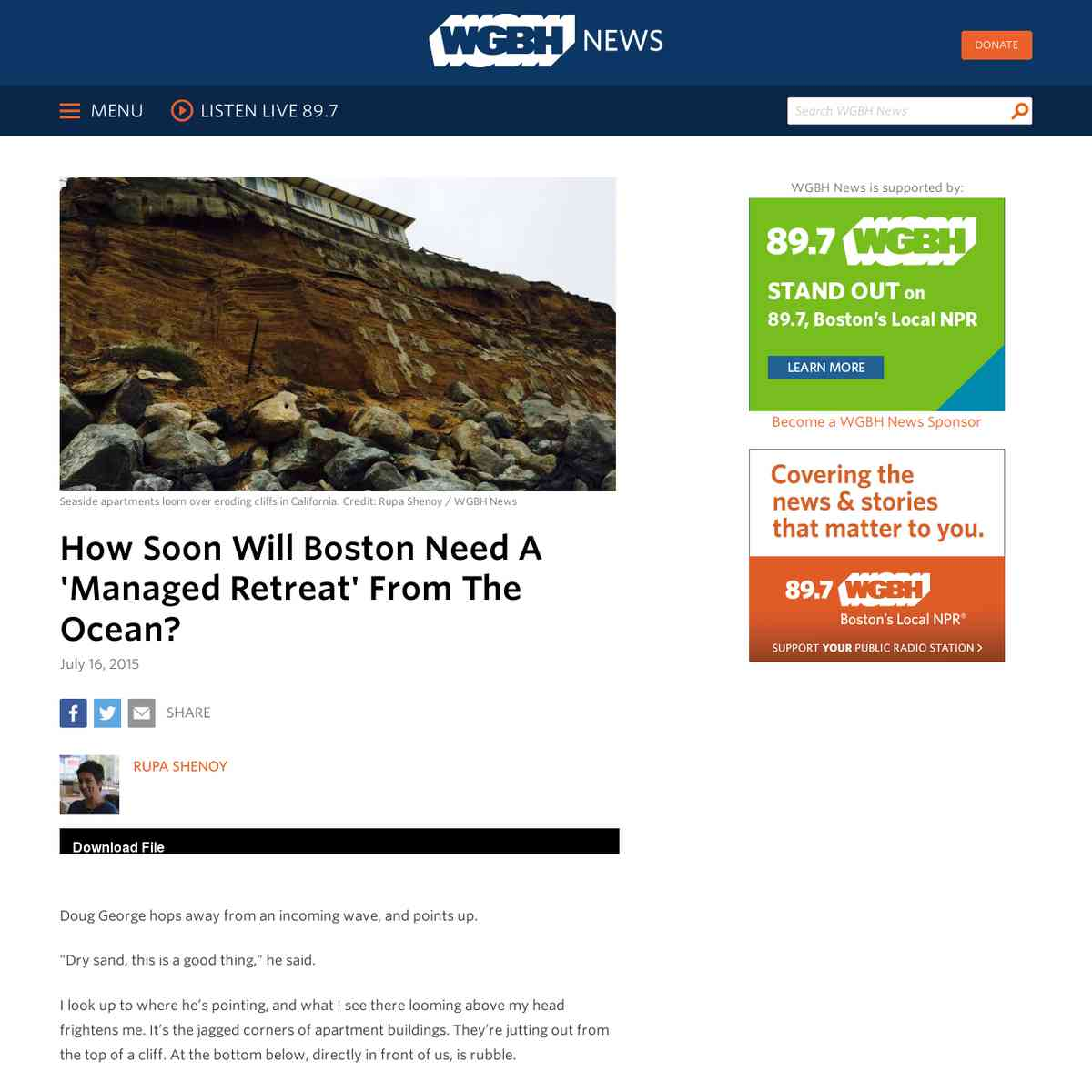 How Soon Will Boston Need A 'Managed Retreat' From The Ocean?