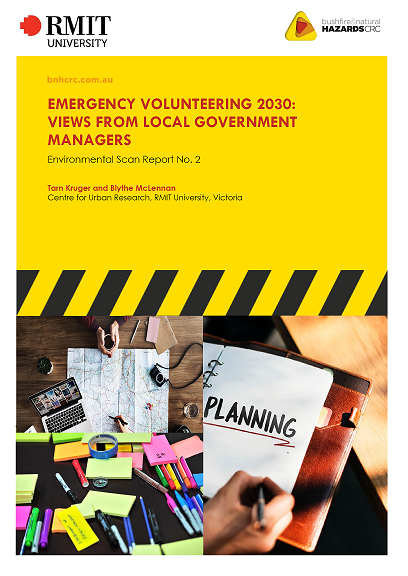 RESEARCH REPORT: Emergency volunteering 2030: Views from local government managers