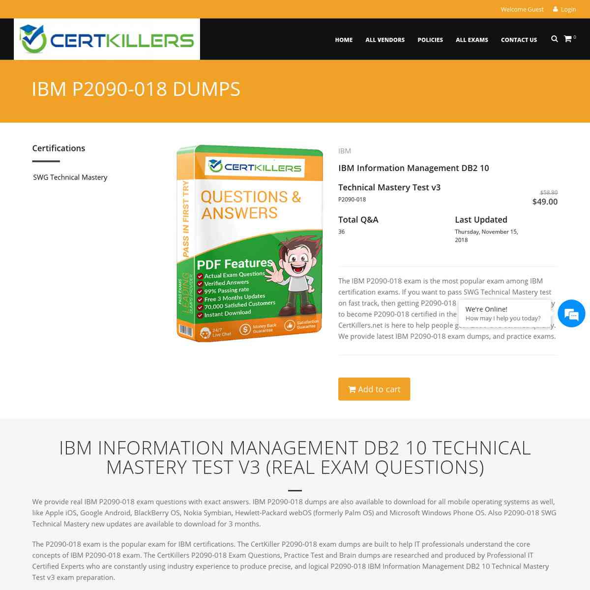 CertKillers.net P2090-018 Exam Q&A that you ought not miss | exam prep | practice questions