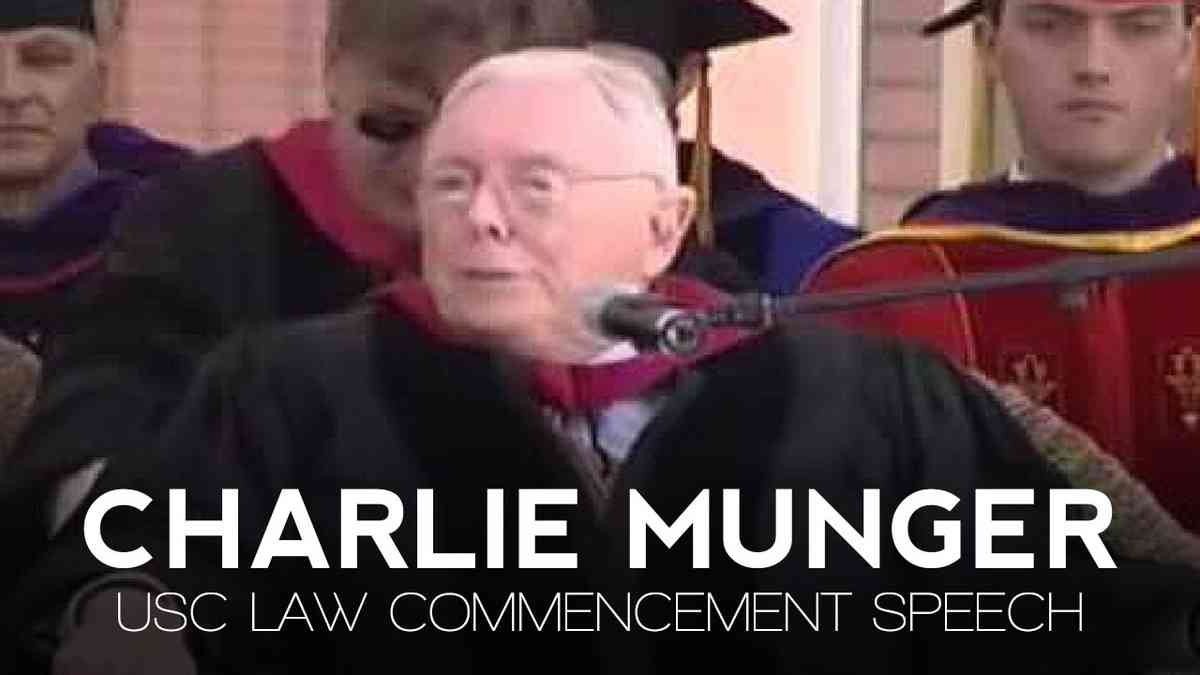 USC Law School Commencement Speech | Charlie Munger - YouTube