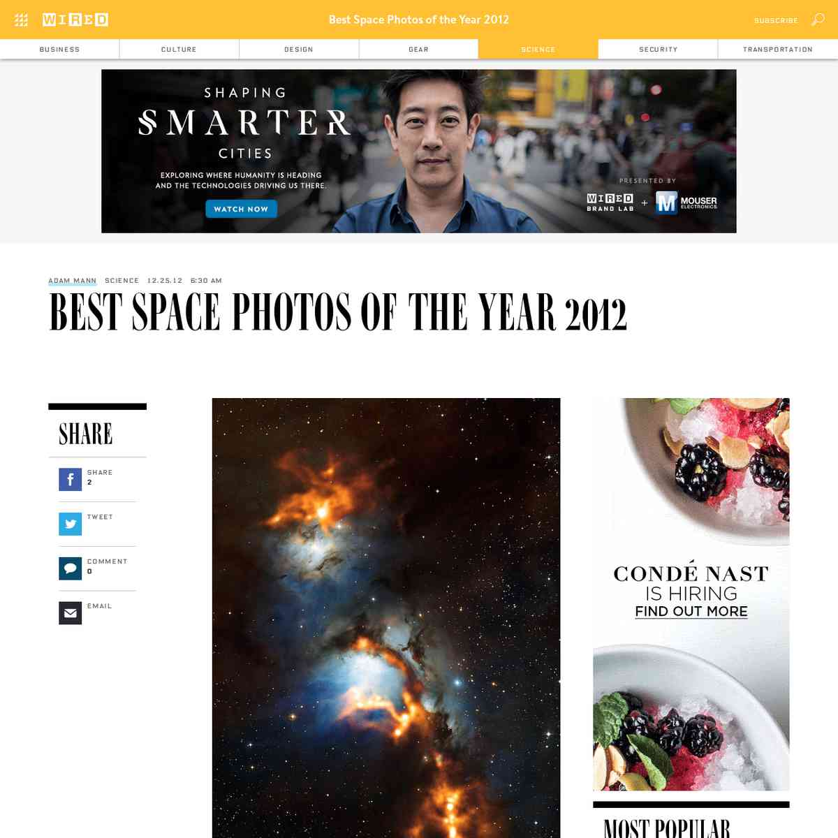 Best Space Photos of the Year 2012 | Wired Science | Wired.com