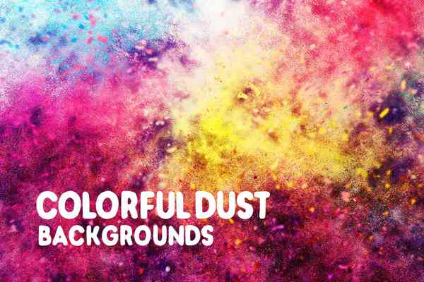 $ Colorful Dust Backgrounds
