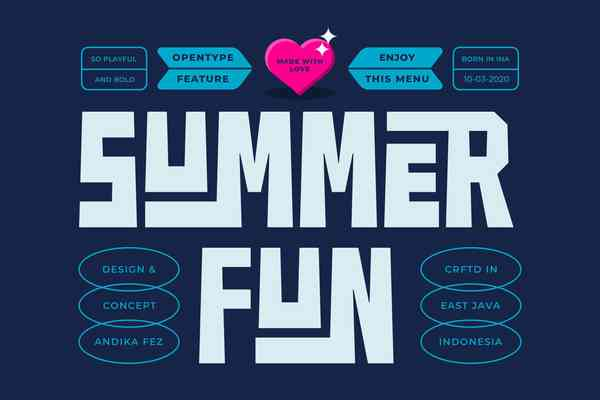 Summer Fun Font