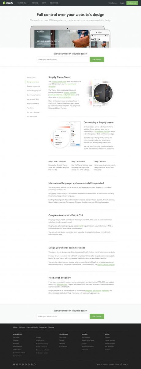 Ecommerce Website Design - Ecommerce Website Templates - Web Design Software - Free 14 day Trial