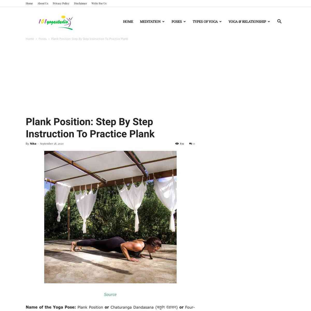 Plank Position: Step By Step Instruction To Practice Plank