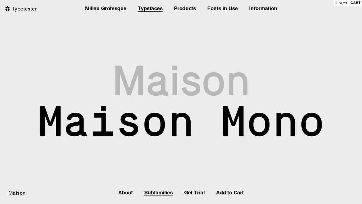 Milieu Grotesque / Digital Typefoundry - Fonts