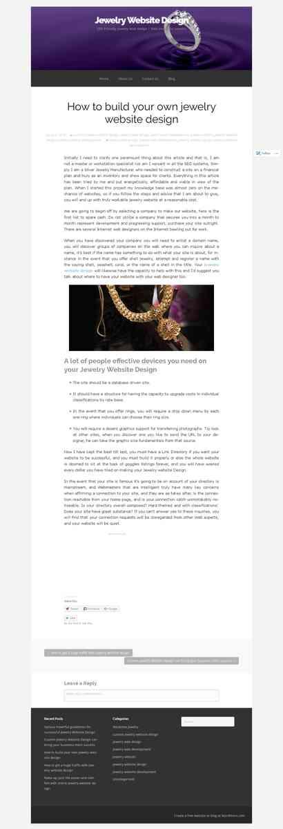 jewelrywebsitedesigns.wordpress.com/2014/07/04/how-to-build-your-own-jewelry-website-design/