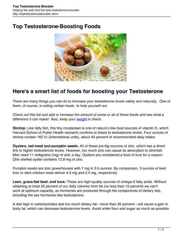 Top Foods for Increasing Testosterone