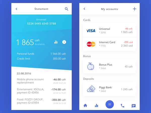 Bank Account by Vladimir Gruev - Dribbble