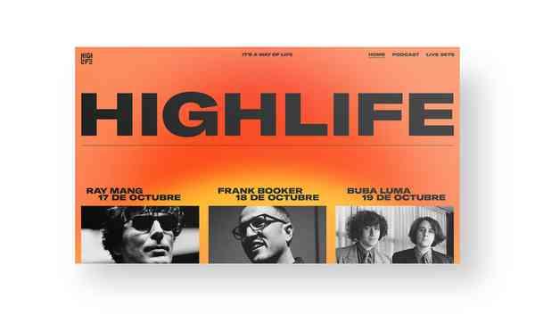 Highlife   Website hero