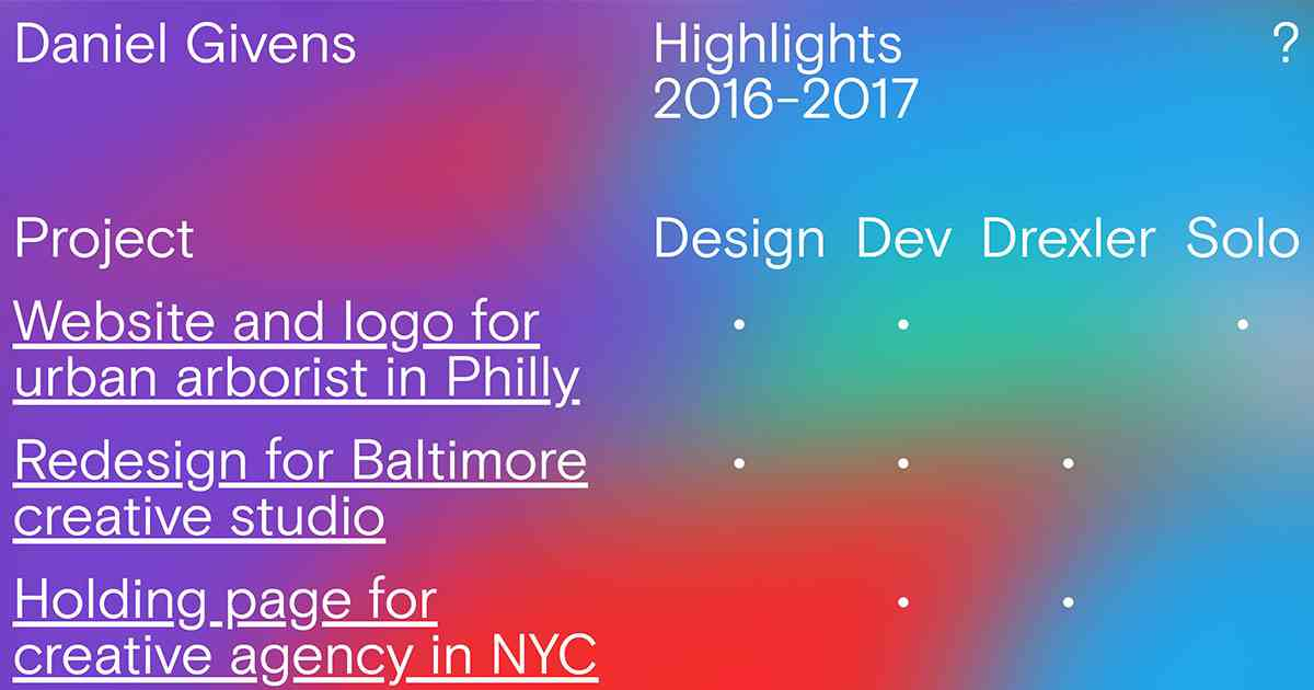 Daniel Givens • Designer/Developer