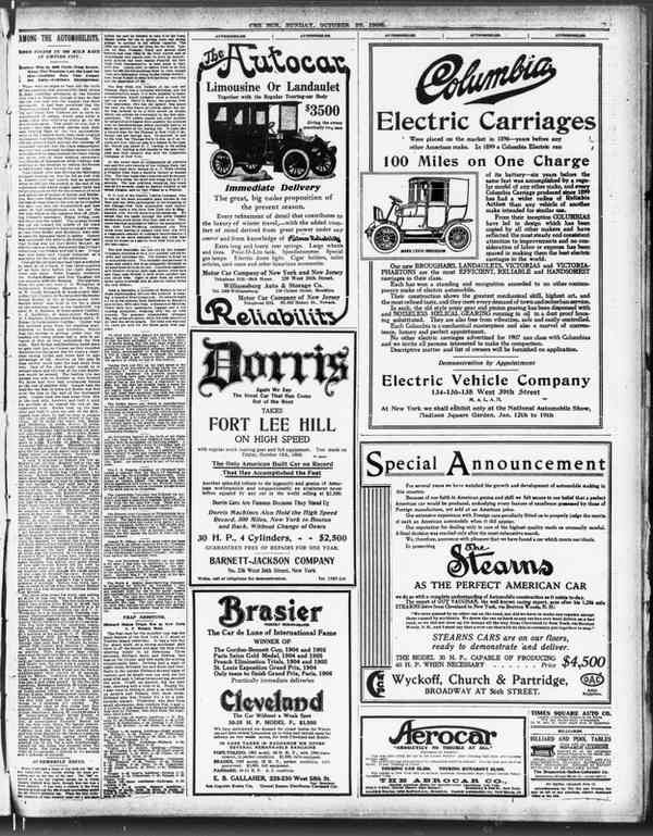 Car logos in 1906 newspaper ads