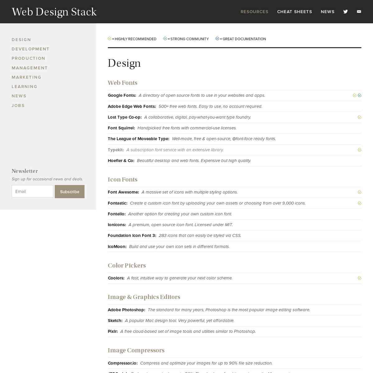 Web Design Stack — Web Design & Development Tools, News, and Inspiration