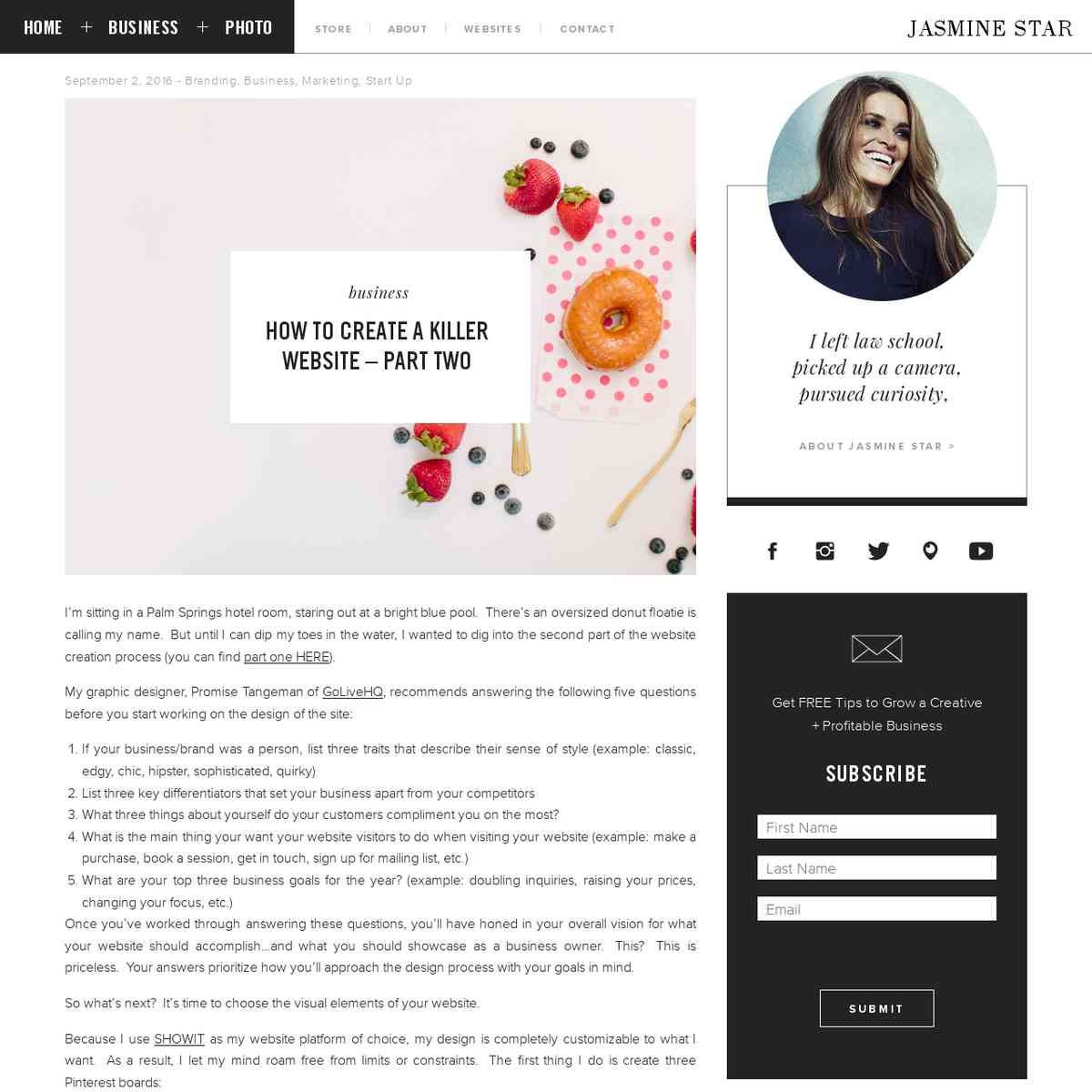 Jasmine Star   How to Create a Killer Website – Part Two
