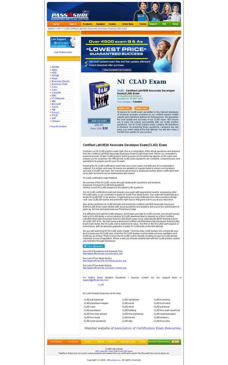 Clad certified labview associate developer examclad exam free clad certified labview associate developer examclad exam 1betcityfo Choice Image