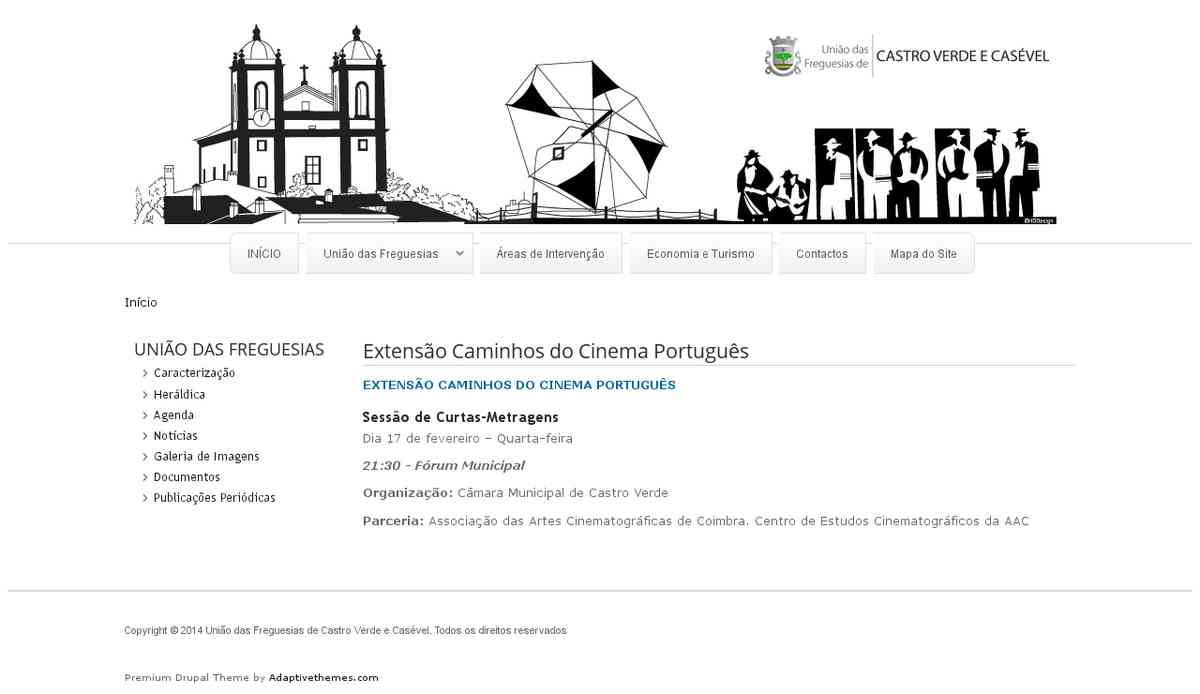 Extensão Caminhos do Cinema Português | União de Freguesias de Castro Verde e Casével