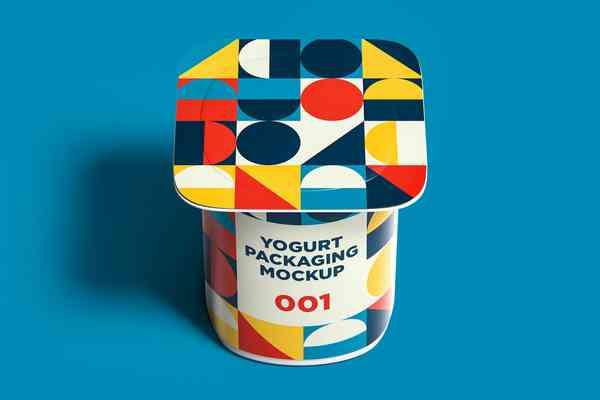 $ Yogurt Packaging Mockup 001