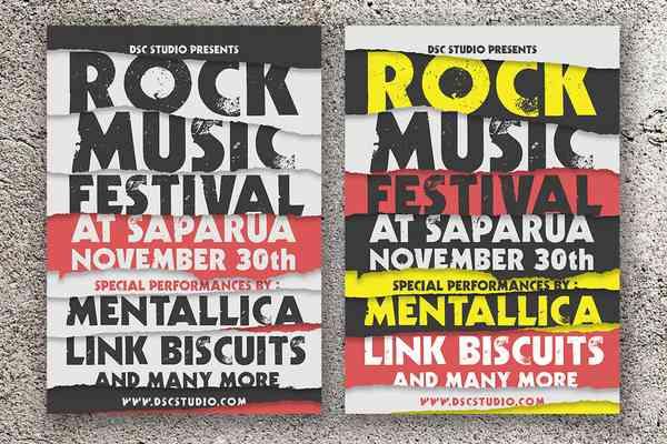 $ Rock Music Festival Flyer