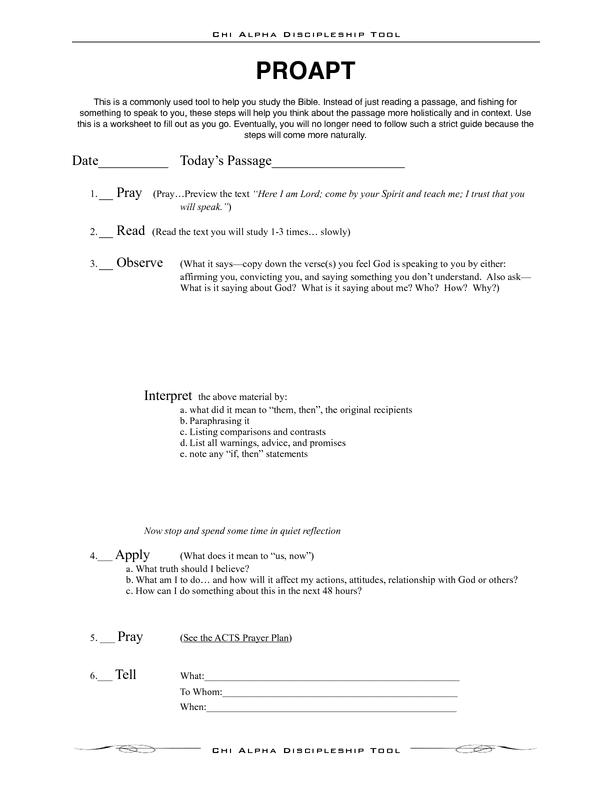 PROAPT Bible Study Method