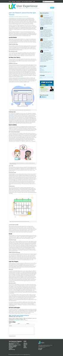 Lean User Research: Lessons from the Agile Trenches User Experience Magazine