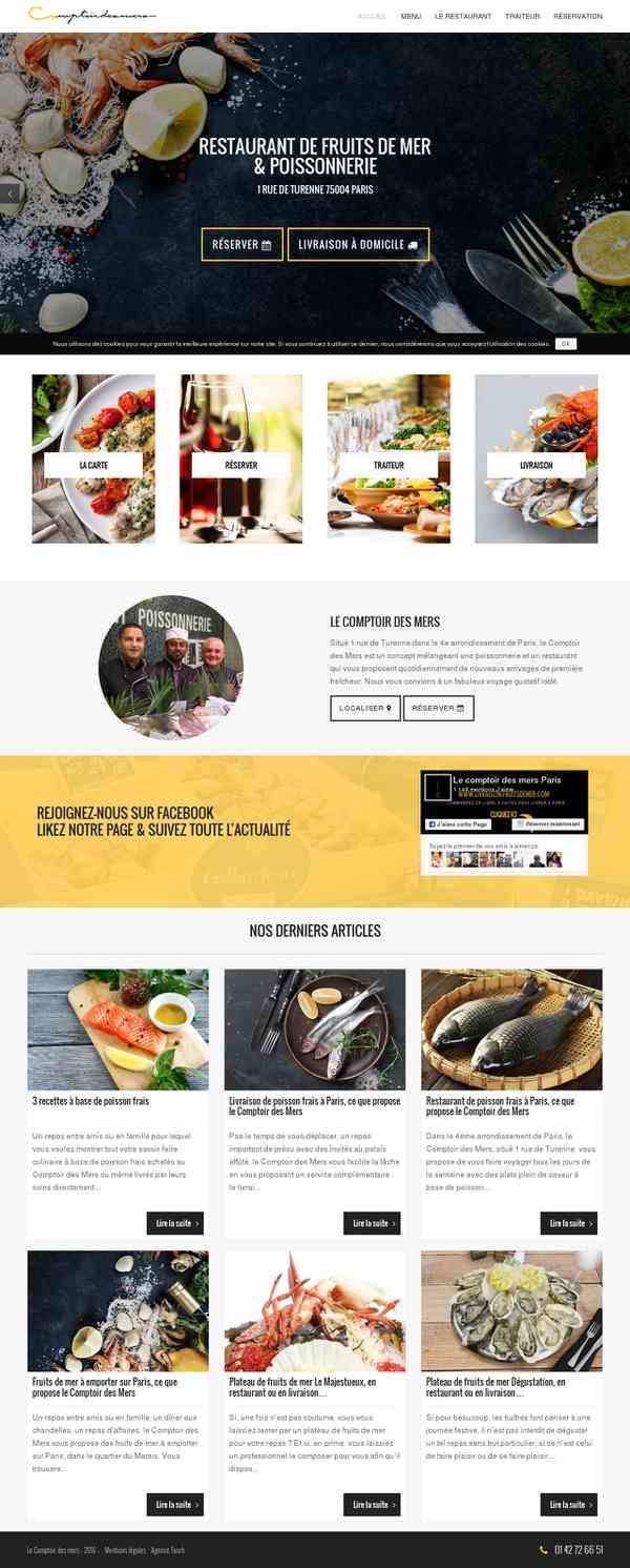 Le Comptoir des Mers - Restaurant de fruits de mer à Paris