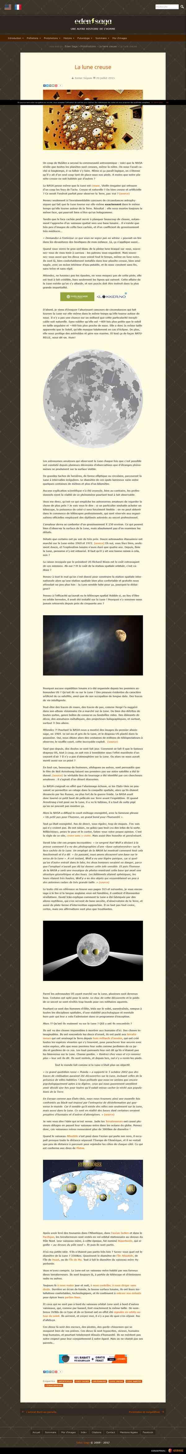 La lune creuse - Eden Saga