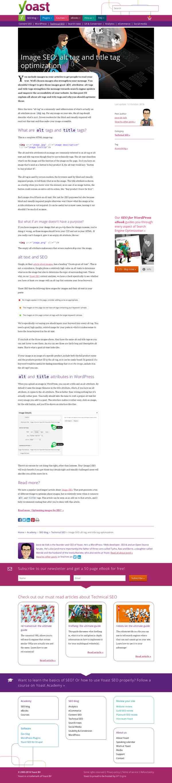 Image SEO: alt tag and title tag optimization • Yoast